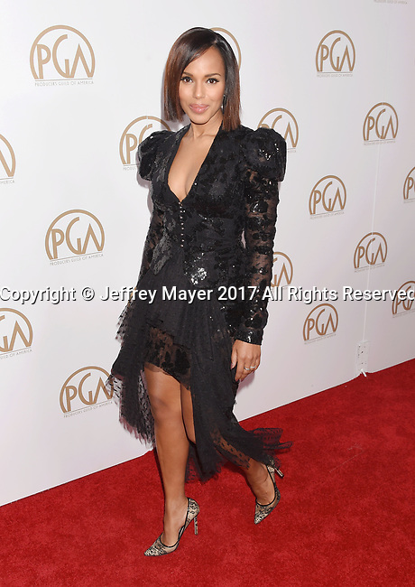 HOLLYWOOD, CA - JANUARY 28: Actress Kerry Washington arrives at the 28th Annual Producers Guild Awards at The Beverly Hilton Hotel on January 28, 2017 in Beverly Hills, California.