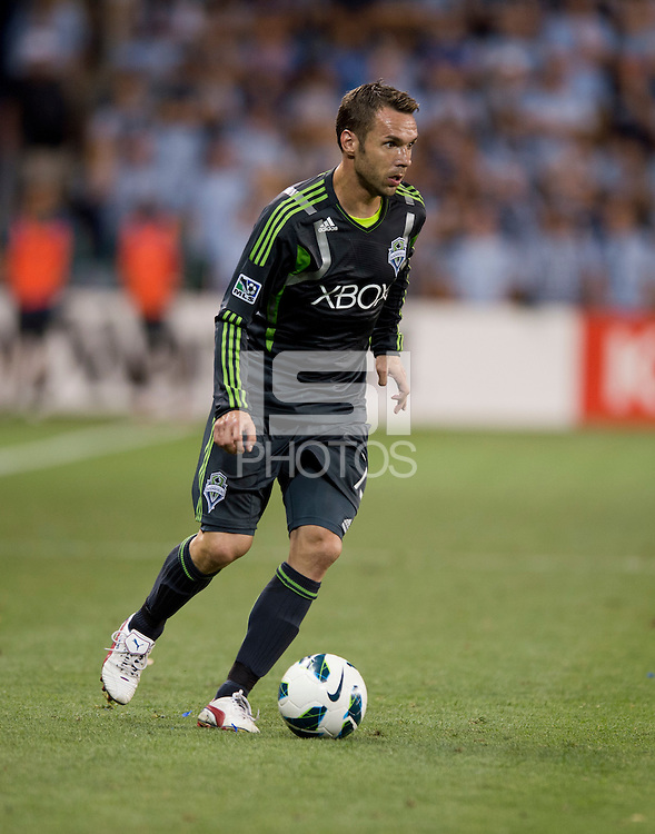 Christian Tiffert. Sporting Kansas City won the Lamar Hunt U.S. Open Cup on penalty kicks after tying the Seattle Sounders in overtime at Livestrong Sporting Park in Kansas City, Kansas.