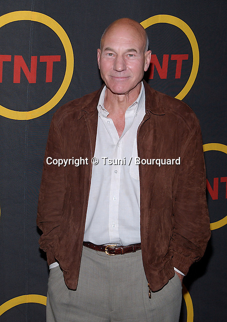 """Patrick Stewart arriving  at the premiere of """" King of Texas """" at the Harmony Gold Theatre in Los Angeles. May 30, 2002          -            StewartPatrick01.jpg"""