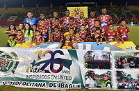 IBAGUE - COLOMBIA , 5 -11 - 2017.Formación del Deportes Tolima.Acción de juego entre los equipos Depores Tolima y Atlético Junior   durante encuentro  por la fecha 19 de la Aguila II 2017 disputado en el estadio Manuel  Murillo Toro./ Team of Deportes Tolima.Action game between Deportes Tolima and Atletico Junior during match for the dat 19 of the Aguila League II 2017 played at Manuel Murillo Toro stadium. Photo:VizzorImage / Juan Carlos Escobar  / Contribuidor