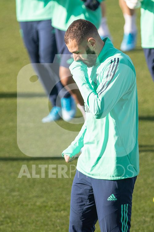 Real Madrid's Benzema during training session. <br /> November 25 ,2019.<br /> (ALTERPHOTOS/David Jar)