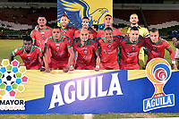 TUNJA-COLOMBIA, 09-09-2019: Jugadores de Patriotas Boyacá, posan para una foto, antes de partido de la fecha 10 entre Patriotas Boyacá y La Equidad, por la Liga Águila II 2019, jugado en el estadio La Independencia de la ciudad de Tunja. / Players of Patriotas Boyaca, pose for a photo, prior a match of the 10th date between Patriotas Boyaca and La Equidad, for the Aguila Leguaje II 2019 played at the La Independencia stadium in Tunja city. / Photo: VizzorImage / José Miguel Palencia / Cont.