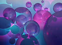 Abstract backgrounds pattern of close up bubbles