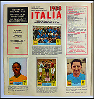 BNPS.co.uk (01202 558833)<br /> Pic: BerkshireAuctionRooms/BNPS<br /> <br /> The album also included pages on previous tournaments.<br /> <br /> A schoolboy's precious pennies have turned into &pound;1200 as a complete Panini sticker album from the legendary 1970 World Cup has emerged for auction.<br /> <br /> Not only did Mexico 70 give rise to some of the most famous World Cup moments of all time, it also launched the Panini brothers as a global brand and led to frantic playground swapping up and down Britain.<br /> <br /> The tournament held 47 years ago is often cited as the greatest World Cup. With 'the most beautiful goal of all time', Gordon Bank's save, Gerd Muller up front for Germany and Bobby Moore v Pele the tournament had everything.<br /> <br /> The complete album is being sold by Berkshire Auction Rooms on Saturday.