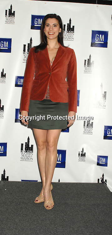 Milena Govich from Law and Order..at The New York Women in Film and Television Muse Luncheon honoreeing Katie Couric, John Wells, Ellen Lewis, Mable Haddock and Betty Cohen on December 14, 2006 at The New York Hilton...Robin Platzer, Twin Images..