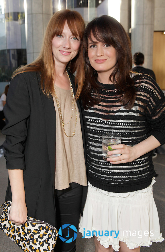 "BEVERLY HILLS, CA - JUNE 06:  Judy Greer and Elizabeth Reaser attend a Fox Searchlight screening Of ""The Art Of Getting By"" at Clarity Theater on June 6, 2011 in Beverly Hills, California.  (Photo by Todd Williamson/WireImage)"
