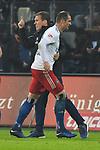 05.11.2018,  GER; 2. FBL, Hamburger SV vs 1.FC Koeln 1848 ,DFL REGULATIONS PROHIBIT ANY USE OF PHOTOGRAPHS AS IMAGE SEQUENCES AND/OR QUASI-VIDEO, im Bild Pierre-Michel Lasogga (Hamburg #10) schiesst das 1-0 fuer Hamburg und jubelt mit Trainer Hannes Wolf (Hamburg)  Foto © nordphoto / Witke *** Local Caption ***