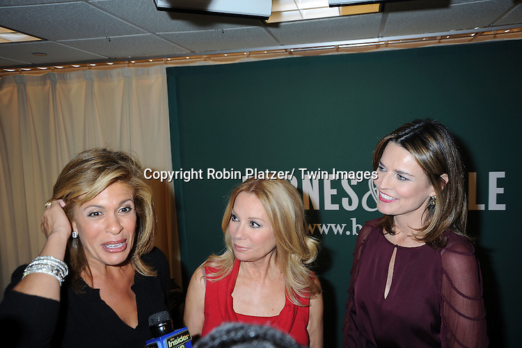 "Hoda Kotb, Kathie Lee Gifford and Savannah Guthrie attend the book signing for ""From Yesterday to TODAY"" .on November 17, 2011 at Barnes & Noble on 5th Avenue in New York City."