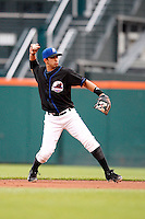 June 29, 2009:  Second Baseman Luis Rivera of the Buffalo Bisons in the field during a game at Coca-Cola Field in Buffalo, NY.  The Bisons are the International League Triple-A affiliate of the New York Mets.  Photo by:  Mike Janes/Four Seam Images