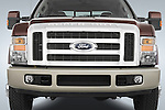 Straight front view of a 2008 Ford F350 Crew Cab