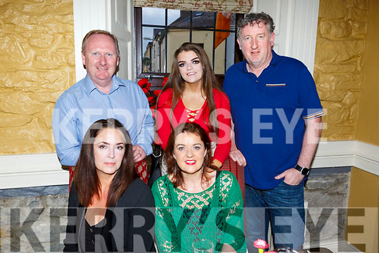 Enjoying a meal in the Brogue Inn on Saturday night.<br /> Seated l-r, Sharon Black and Helen Enright.<br /> Back l-r, Peter Kennedy, Leah Enright and Justin Kennedy.