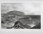 Nineteenth century engraving of Watchet, Somerset, England, UK