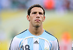 24 June 2006: Maxi Rodriguez (ARG). Argentina (1st place in Group C) defeated Mexico (2nd place in Group D) 2-1 after extra time at the Zentralstadion in Leipzig, Germany in match 50, a Round of 16 game, in the 2006 FIFA World Cup.