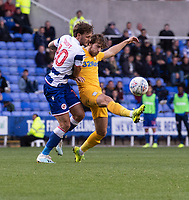 Preston North End's Ben Pearson (left) vies for possession with Reading's John Swift (left) <br /> <br /> Photographer David Horton/CameraSport<br /> <br /> The EFL Sky Bet Championship - Reading v Preston North End - Saturday 19th October 2019 - Madejski Stadium - Reading<br /> <br /> World Copyright © 2019 CameraSport. All rights reserved. 43 Linden Ave. Countesthorpe. Leicester. England. LE8 5PG - Tel: +44 (0) 116 277 4147 - admin@camerasport.com - www.camerasport.com