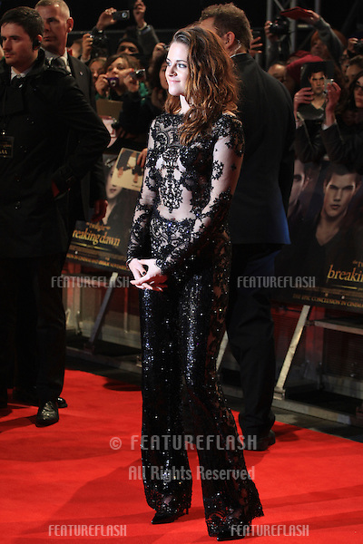 """Kristen Stewart arriving for the """"The Twilight Saga: Breaking Dawn Part 2"""" premiere at the Odeon Leicester Square, London. 14/11/2012 Picture by: Henry Harris / Featureflash"""