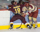 Mark Bomersback, TJ Fast - The Ferris State Bulldogs defeated the University of Denver Pioneers 3-2 in the Denver Cup consolation game on Saturday, December 31, 2005, at Magness Arena in Denver, Colorado.