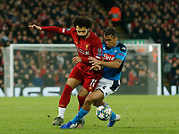 Mohamed Salah of Liverpool and Allan of Napoli during the UEFA Champions League match at Anfield, Liverpool. Picture date: 27th November 2019. Picture credit should read: Andrew Yates/Sportimage PUBLICATIONxNOTxINxUK SPI-0331-0060<br /> Liverpool 27-11-2019 Anfield <br /> Football Uefa Champions League 2019/2020 <br /> Liverpool Vs Napoli <br /> Photo Imago/Insidefoto <br /> ITALY ONLY