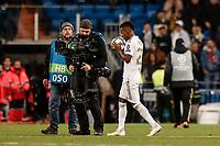 6th November 2019; Estadio Santiago Bernabeu, Madrid, Spain; UEFA Champions League Football, Real Madrid versus Galatasaray; Rodrygo (Real Madrid) takes the game ball after scoring a hat-trick of goals - Editorial Use