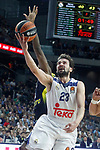 Real Madrid's Sergio Llull (f) and Fenerbahce Istambul's Ekpe Udoh during Euroleague, Regular Season, Round 29 match. March 31, 2017. (ALTERPHOTOS/Acero)