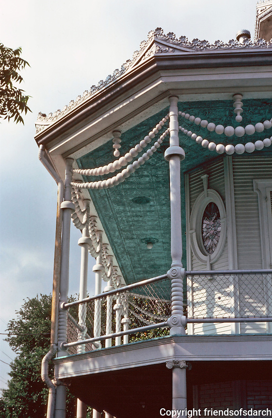 New Orleans:  Doullut House--detail.  Gothic  Victorian.