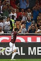 esultanza gol Patrick Cutrone goal celebration<br /> Milano 27-08-2017 Stadio Giuseppe Meazza in San Siro Calcio Serie A<br /> 2017/2018 Milan - Cagliari Foto Imagesport/Insidefoto