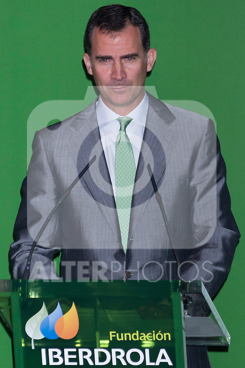 03.07.2012. Princess Letizia of Spain and Prince Felipe of Spain attend Iberdrola Foundation Scholarships 2012 at 'Casa de America' in Madrid. In the image Prince Felipe de Borbon (Alterphotos/Marta Gonzalez)