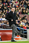 Manager Cristobal Parralo Aguilera of RC Deportivo La Coruna in action during the La Liga 2017-18 match between FC Barcelona and Deportivo La Coruna at Camp Nou Stadium on 17 December 2017 in Barcelona, Spain. Photo by Vicens Gimenez / Power Sport Images