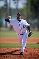 Detroit Tigers pitcher Phillippe Aumont (48) during a Minor League Spring Training intrasquad game on March 24, 2018 at the TigerTown Complex in Lakeland, Florida.  (Mike Janes/Four Seam Images)