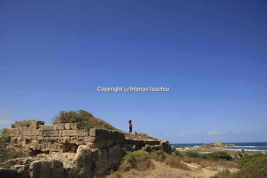 Israel, Carmel coast, Karta ruins (Dustrey), a small Crusader post in Atlit.