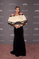 LOS ANGELES, CA - NOVEMBER 04: Zoe Saldana at the 2017 LACMA Art + Film Gala Honoring Mark Bradford And George Lucas at LACMA on November 4, 2017 in Los Angeles, California. Credit: David Edwards/MediaPunch