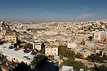 Judea, Hebron Mountain. A view of Hebron from Tel Rumeida