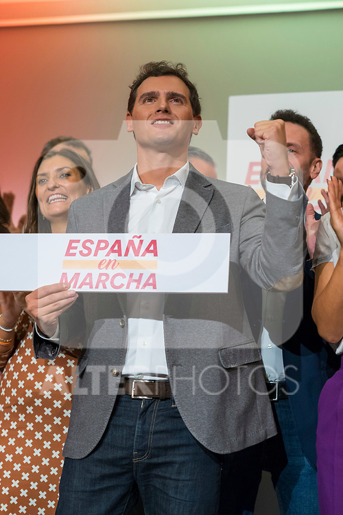 President of Ciudadanos, Albert Rivera, during a meeting with his militants in Madrid. October, 05, 2019. (ALTERPHOTOS/Francis Gonzalez)