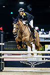 Yu An Su of Hong Kong riding Chardonay Hara Des Barrages competes in the HKJC Junior Trophy during the Longines Masters of Hong Kong at AsiaWorld-Expo on 11 February 2018, in Hong Kong, Hong Kong. Photo by Ian Walton / Power Sport Images