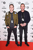 Chris Stark and Scott Mills<br /> at the Radio 1 Teen Awards 2016, Wembley Arena, London.<br /> <br /> <br /> ©Ash Knotek  D3188  22/10/2016