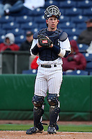 February 27, 2010:  Catcher Cameron McConnell of the Notre Dame Fighting Irish during the Big East/Big 10 Challenge at Bright House Field in Clearwater, FL.  Photo By Mike Janes/Four Seam Images