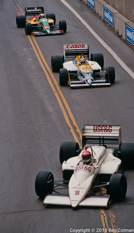 Cheever, Piquet. Fabi, Detroit 1987