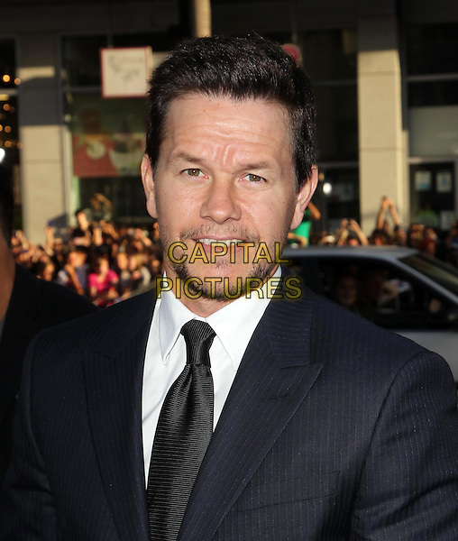 Mark Wahlberg.The L.A. Premiere of 'Ted' held at The Grauman's Chinese Theatre in Hollywood, California, USA..June 21st, 2012.headshot portrait tie white shirt stubble facial hair blue suit black  .CAP/ADM/KB.©Kevan Brooks/AdMedia/Capital Pictures.