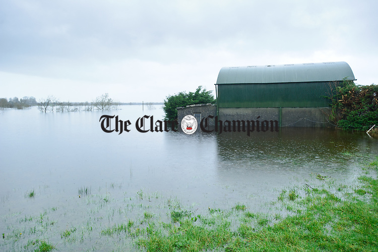 A general view of flooded farmland and buildings in the Peterswell area of South Galway. Photograph by John Kelly.
