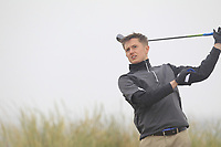 John Cleary (Elm Park) on the 1st tee during Round 1 - Matchplay of the North of Ireland Championship at Royal Portrush Golf Club, Portrush, Co. Antrim on Wednesday 11th July 2018.<br /> Picture:  Thos Caffrey / Golffile