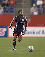 New England Revolution midfielder Sainey Nyassi (31). The New England Revolution tied DC United, 2-2, in Gillette Stadium on May 29, 2008.