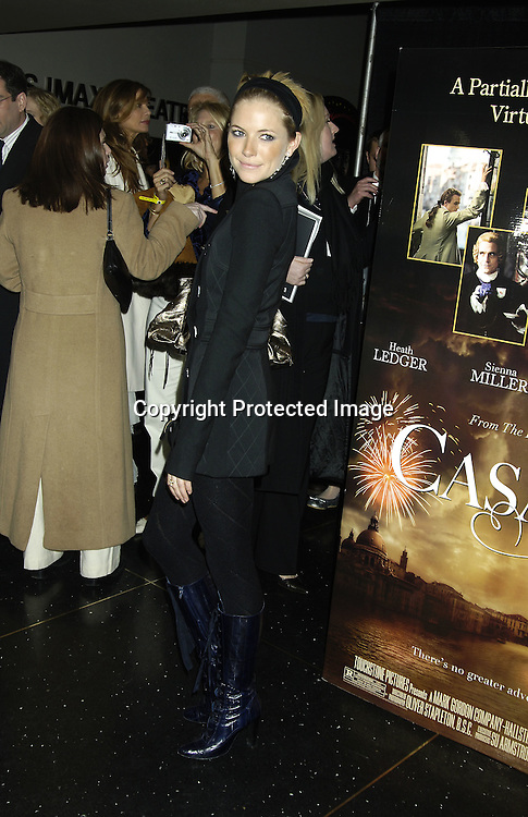 """Sienna Miller ..at a Special Screening of """" Casanova"""" on December 11, 2005 at The Loews Lincoln Square Theatre. ..Photo by Robin Platzer, Twin Images"""
