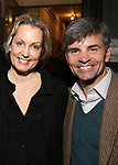 Alexandra Wentworth and George Stephanopoulos attend 'The Play That Goes Wrong' Broadway Opening Night at the Lyceum Theatre on April 2, 2017 in New York City.
