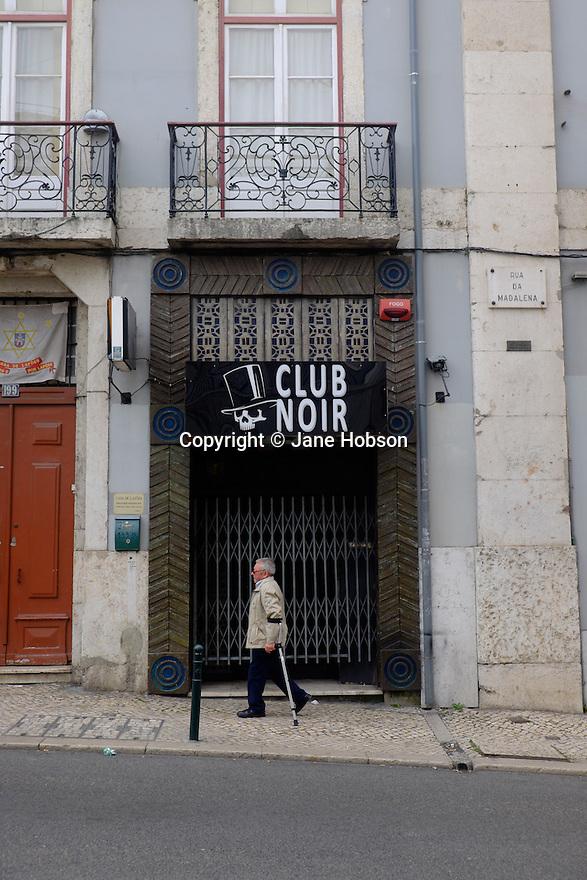 Lisbon, Portugal. 21.03.2015. Club Noir, Lisbon, Portugal. © Jane Hobson.