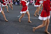 Red coats, Raleigh Christmas Parade, Raleigh, NC, Saturday, November 19, 2011.