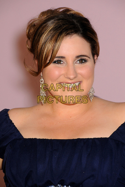 KAYCEE STROH.2009 Environmental Media Awards held at Paramount Studios, Los Angeles, California, USA..October 25th, 2009.headshot portrait dangling earrings black navy blue silver EMA EMA's EMAS.CAP/ADM/BP.©Byron Purvis/AdMedia/Capital Pictures.