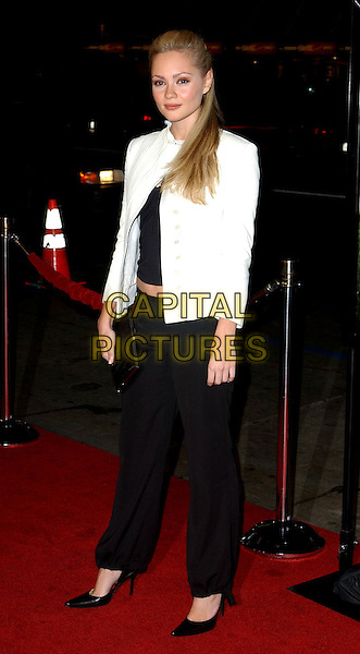 BEATRICE ROSEN.Chasing Liberty Los Angeles Premiere held at The Grauman's Chinese Theater .7 January 2004.**UK Sales Only**.full length, full-length, white jacket, black trousers, stilettos, heels, shoes.www.capitalpictures.com.sales@capitalpictures.com.©Capital Pictures.