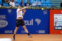 SAO PAULO 26 DE FEVEREIRO DE 2014 - BRASIL OPEN SAO PAULO 2014 - O tenista Tommy Haas venceu o tenista italiano Potito Starace por 2 sets a 0, no início da noite de hoje, 22. O Brasil Open acontece no Ginásio do Ibirapuera, na cidade de São Paulo durante os dias 22 de fevereiro a 02 de março. foto: Paulo Fischer/ Brazil Photo Press.