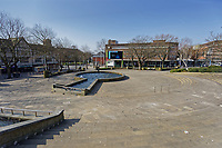 Pictured: Castle Square in the deserted Swansea city centre, Wales, UK. Tuesday 24 March 2020<br /> Re: Covid-19 Coronavirus pandemic, UK.