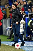 Leganes coach Juan Ramon Lopez Muniz vs Villarreal during Copa del Rey match. 20180104.