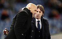 Calcio, Serie A: Roma vs Cagliari, Roma, stadio Olimpico, 22 gennaio 2017.<br /> Roma&iacute;s coach Luciano Spalletti greets Cagliari's coach Massimo Rastelli before the start of the Italian Serie A football match between Roma and Cagliari at Rome's Olympic stadium, 22 January 2017.<br /> UPDATE IMAGES PRESS/Isabella Bonotto